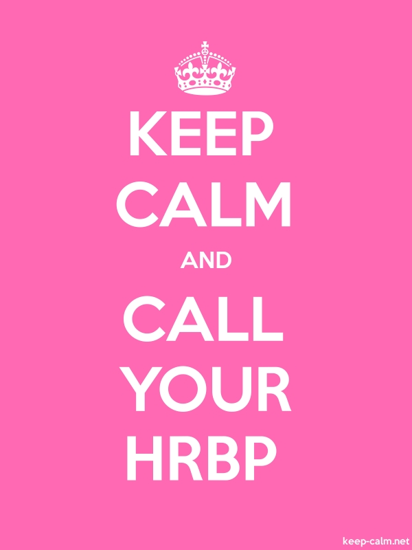 KEEP CALM AND CALL YOUR HRBP - white/pink - Default (600x800)