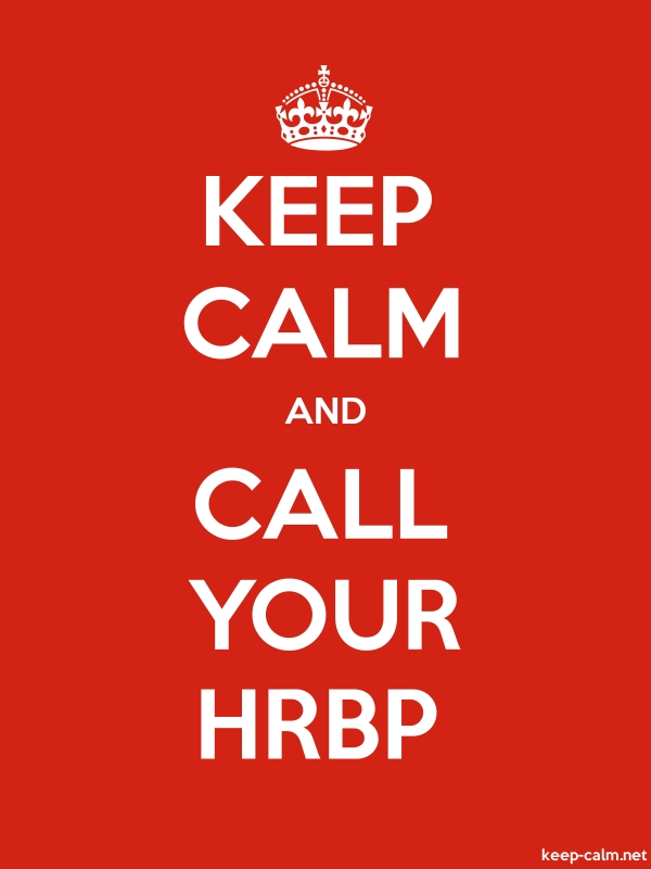 KEEP CALM AND CALL YOUR HRBP - white/red - Default (600x800)