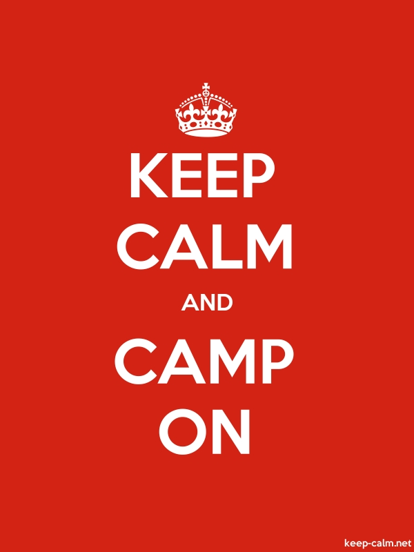 KEEP CALM AND CAMP ON - white/red - Default (600x800)