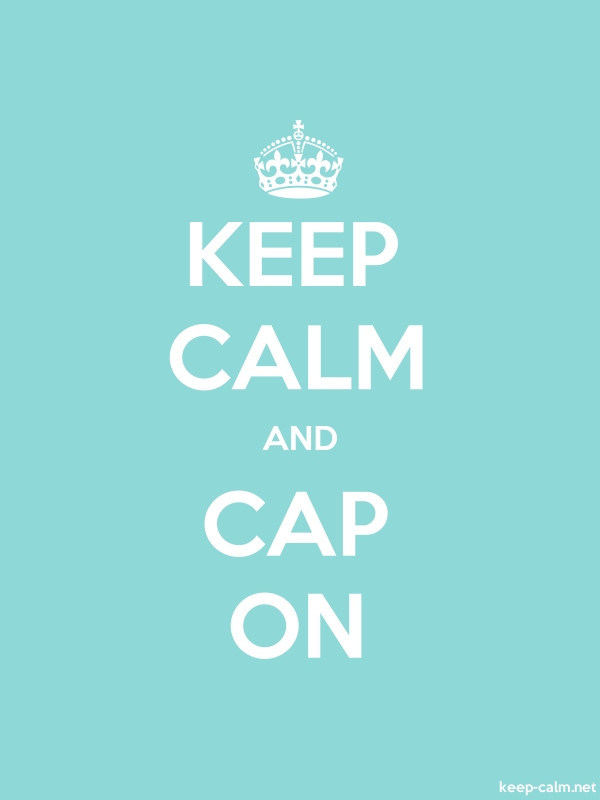 KEEP CALM AND CAP ON - white/lightblue - Default (600x800)