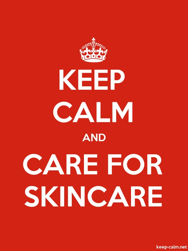 KEEP CALM AND CARE FOR SKINCARE - white/red - Default (600x800)