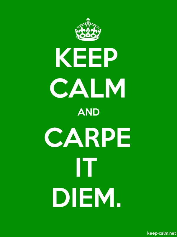 KEEP CALM AND CARPE IT DIEM. - white/green - Default (600x800)