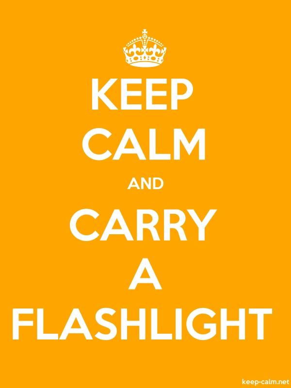 KEEP CALM AND CARRY A FLASHLIGHT - white/orange - Default (600x800)