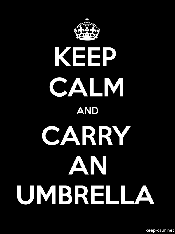 KEEP CALM AND CARRY AN UMBRELLA - white/black - Default (600x800)