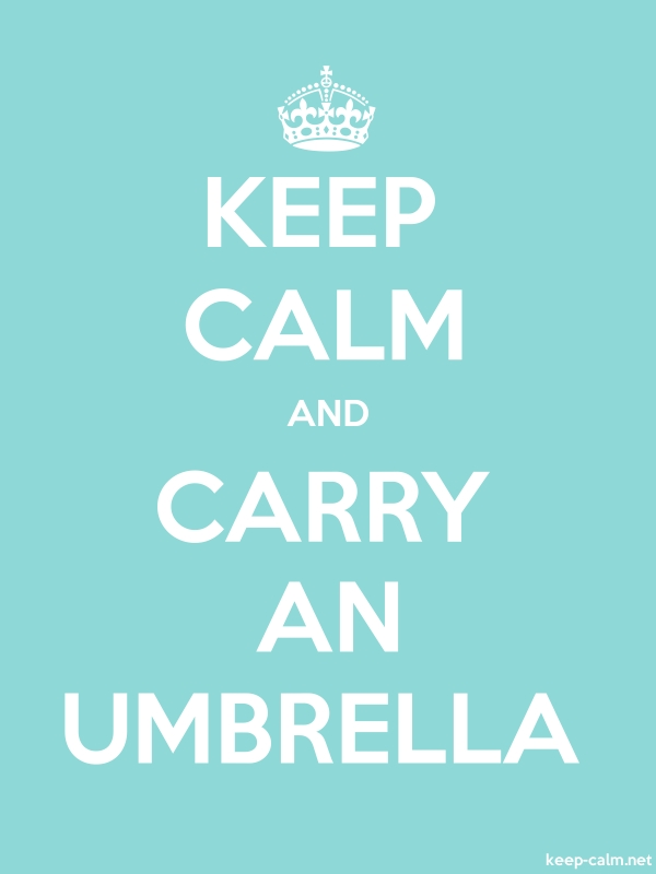 KEEP CALM AND CARRY AN UMBRELLA - white/lightblue - Default (600x800)