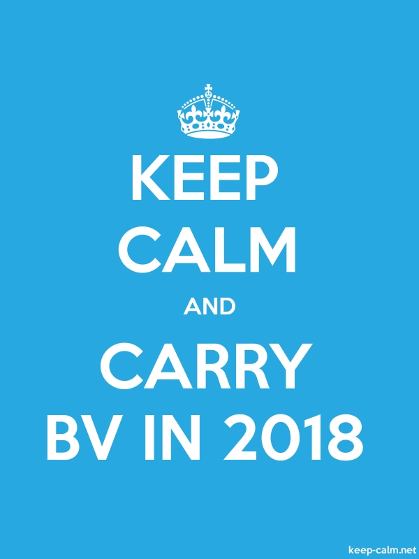 KEEP CALM AND CARRY BV IN 2018 - white/blue - Default (600x800)