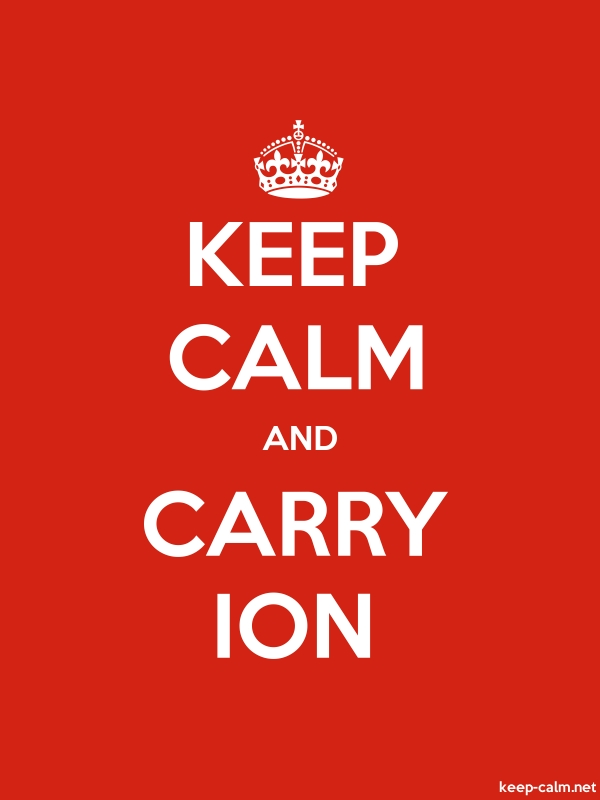 KEEP CALM AND CARRY ION - white/red - Default (600x800)