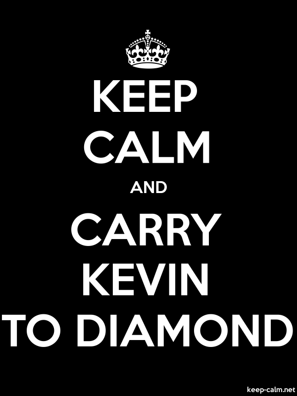 KEEP CALM AND CARRY KEVIN TO DIAMOND - white/black - Default (600x800)