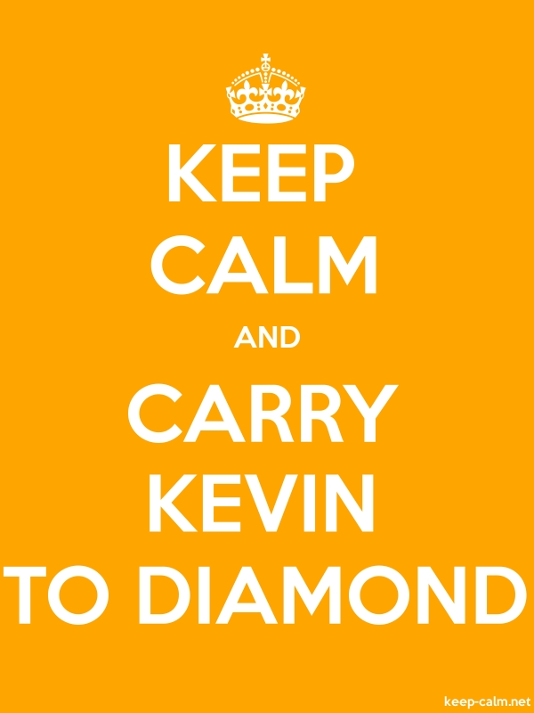 KEEP CALM AND CARRY KEVIN TO DIAMOND - white/orange - Default (600x800)