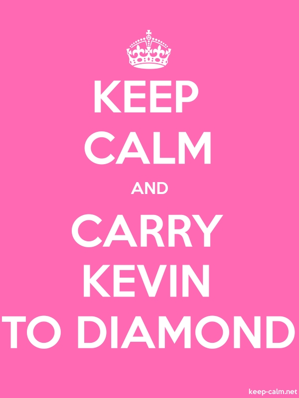 KEEP CALM AND CARRY KEVIN TO DIAMOND - white/pink - Default (600x800)
