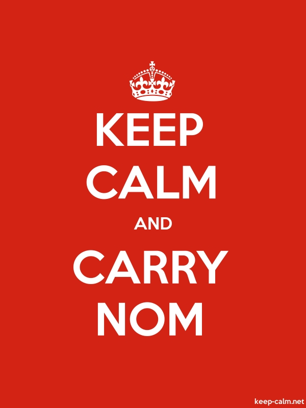 KEEP CALM AND CARRY NOM - white/red - Default (600x800)