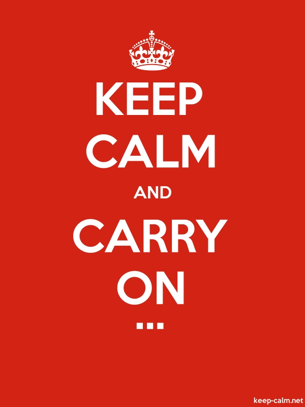 KEEP CALM AND CARRY ON ... - white/red - Default (600x800)