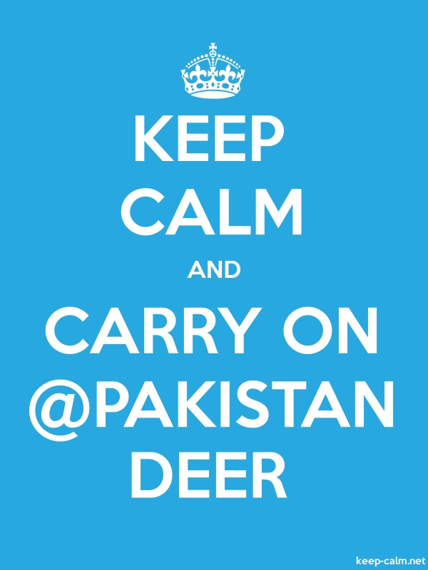 KEEP CALM AND CARRY ON @PAKISTAN DEER - white/blue - Default (600x800)