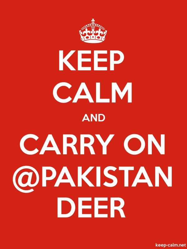 KEEP CALM AND CARRY ON @PAKISTAN DEER - white/red - Default (600x800)