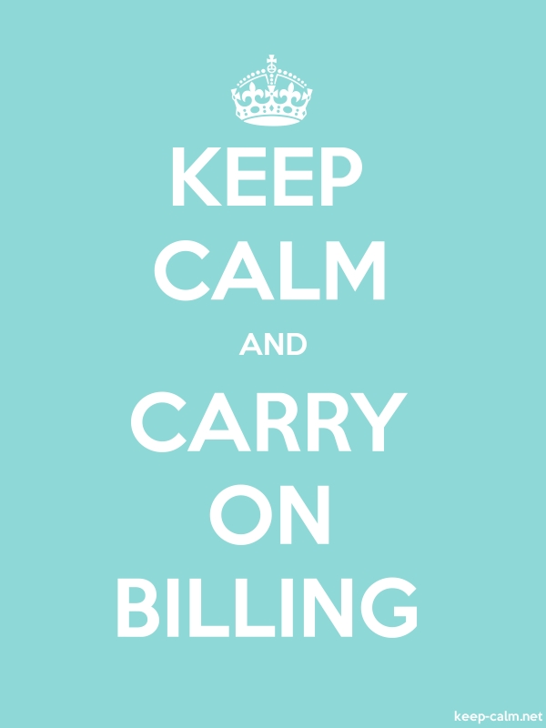 KEEP CALM AND CARRY ON BILLING - white/lightblue - Default (600x800)