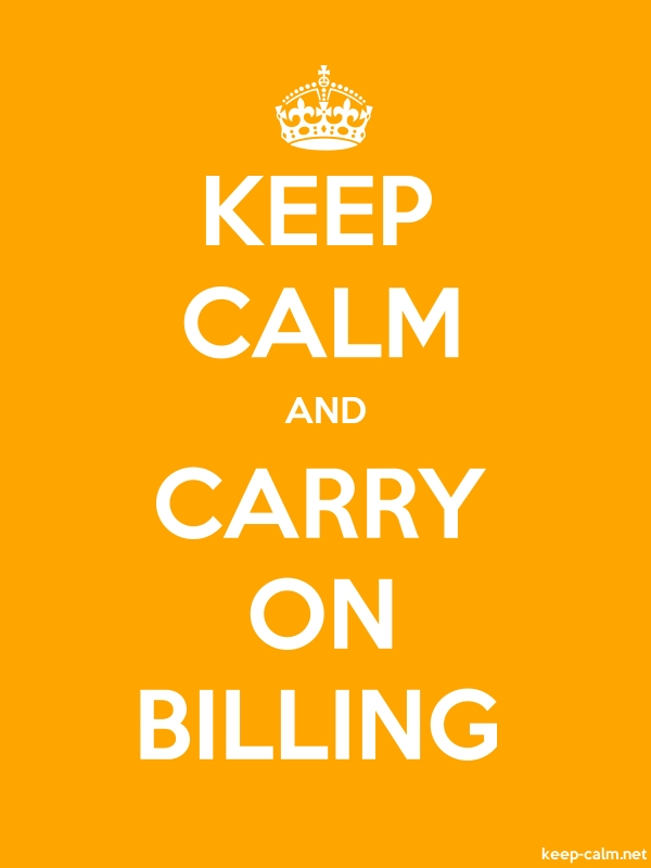KEEP CALM AND CARRY ON BILLING - white/orange - Default (600x800)