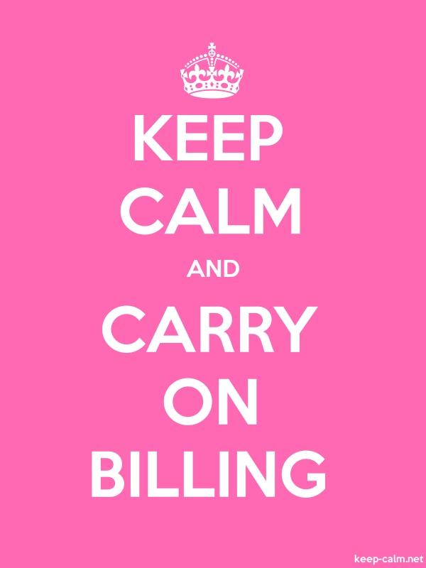 KEEP CALM AND CARRY ON BILLING - white/pink - Default (600x800)
