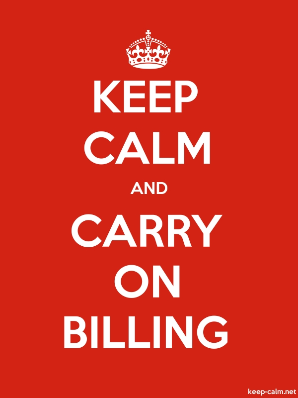 KEEP CALM AND CARRY ON BILLING - white/red - Default (600x800)