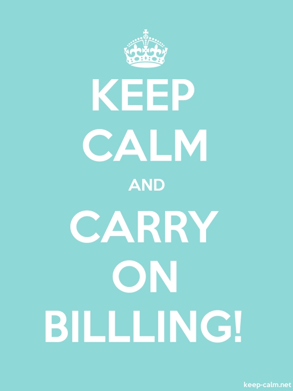 KEEP CALM AND CARRY ON BILLLING! - white/lightblue - Default (600x800)