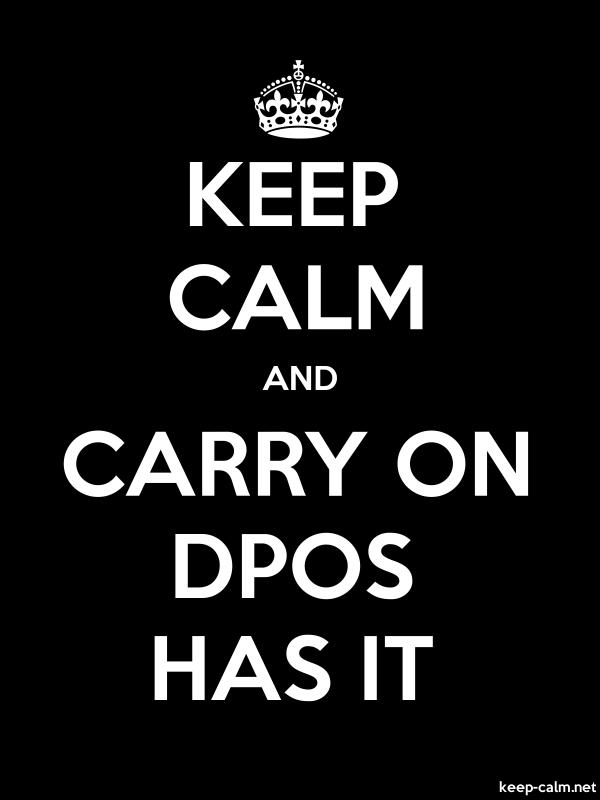 KEEP CALM AND CARRY ON DPOS HAS IT - white/black - Default (600x800)