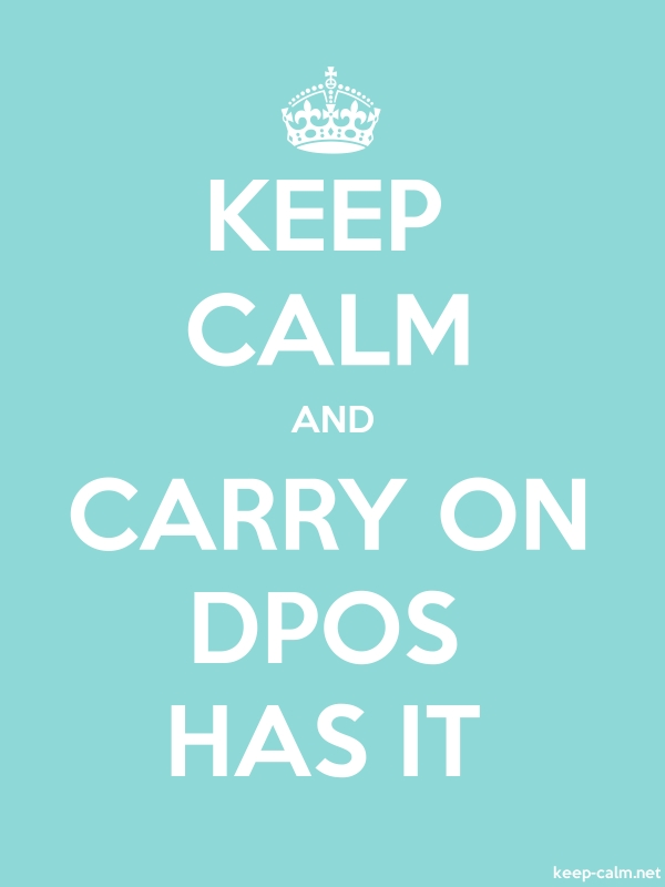 KEEP CALM AND CARRY ON DPOS HAS IT - white/lightblue - Default (600x800)