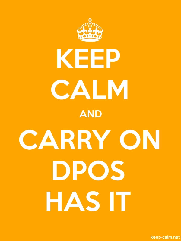 KEEP CALM AND CARRY ON DPOS HAS IT - white/orange - Default (600x800)