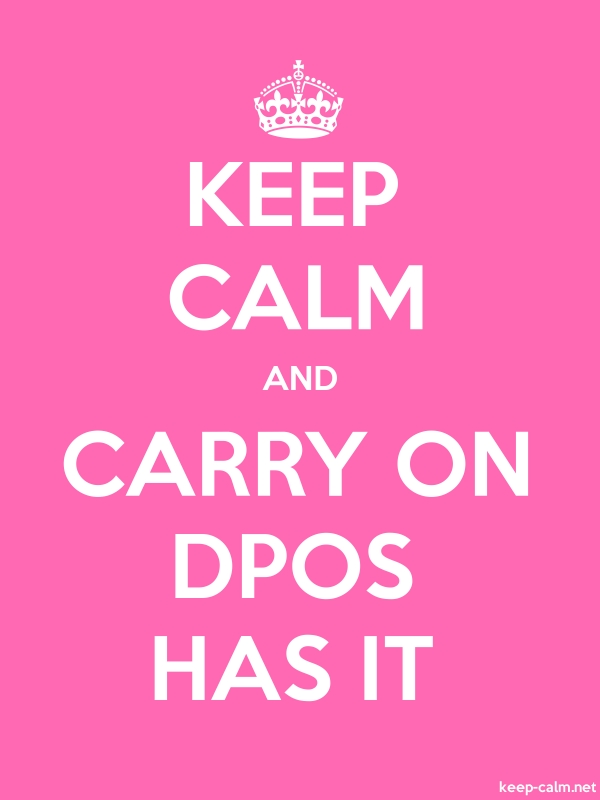 KEEP CALM AND CARRY ON DPOS HAS IT - white/pink - Default (600x800)