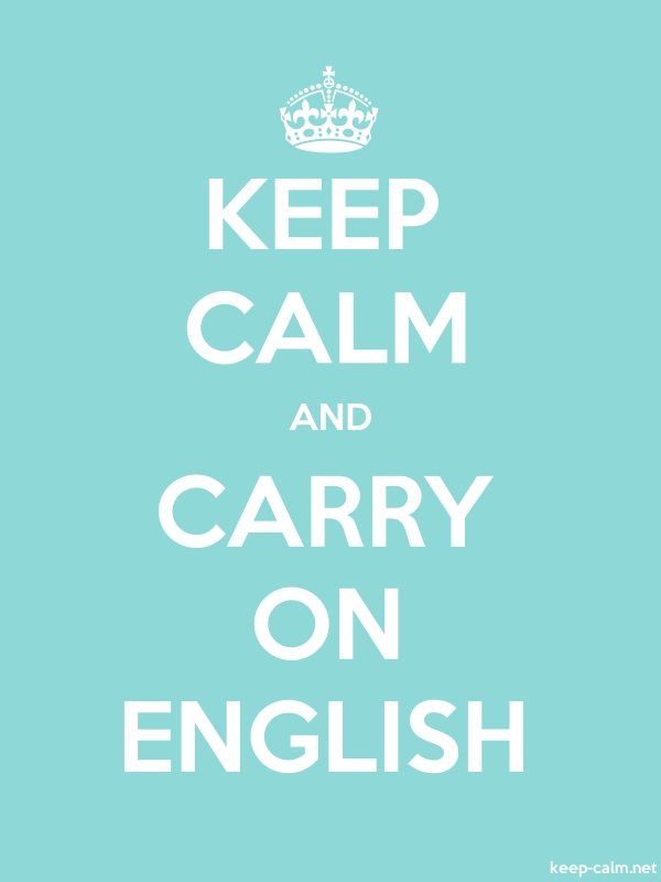 KEEP CALM AND CARRY ON ENGLISH - white/lightblue - Default (600x800)