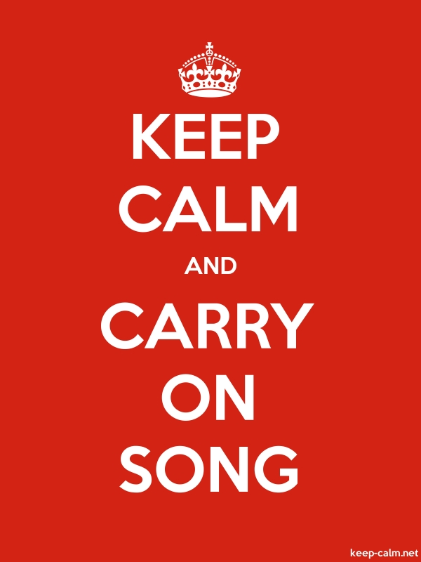 KEEP CALM AND CARRY ON SONG - white/red - Default (600x800)