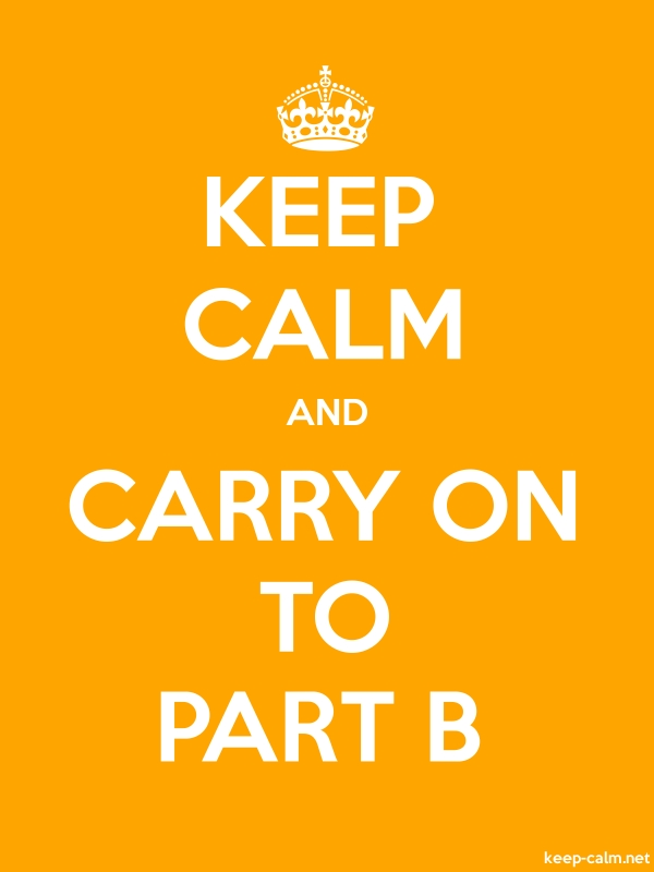KEEP CALM AND CARRY ON TO PART B - white/orange - Default (600x800)