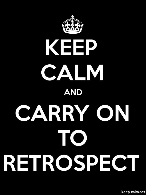 KEEP CALM AND CARRY ON TO RETROSPECT - white/black - Default (600x800)