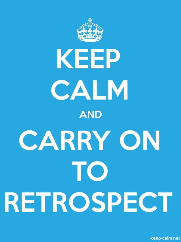 KEEP CALM AND CARRY ON TO RETROSPECT - white/blue - Default (600x800)