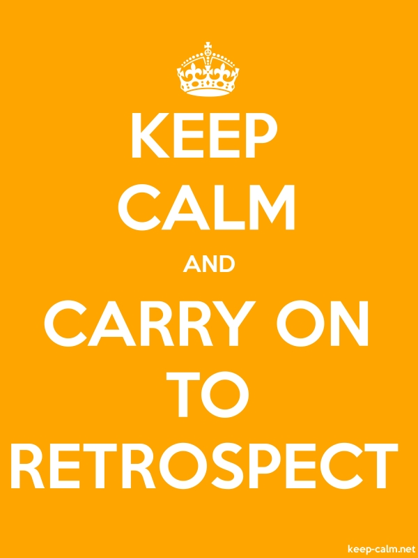 KEEP CALM AND CARRY ON TO RETROSPECT - white/orange - Default (600x800)