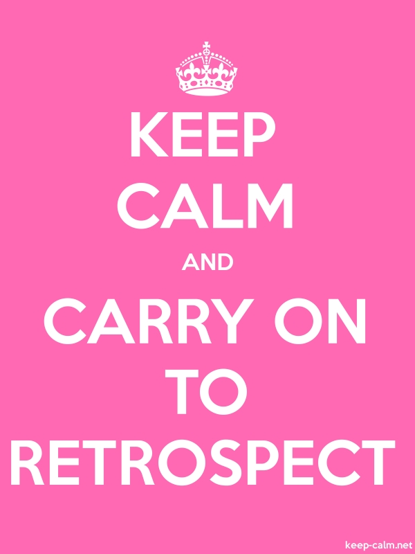 KEEP CALM AND CARRY ON TO RETROSPECT - white/pink - Default (600x800)