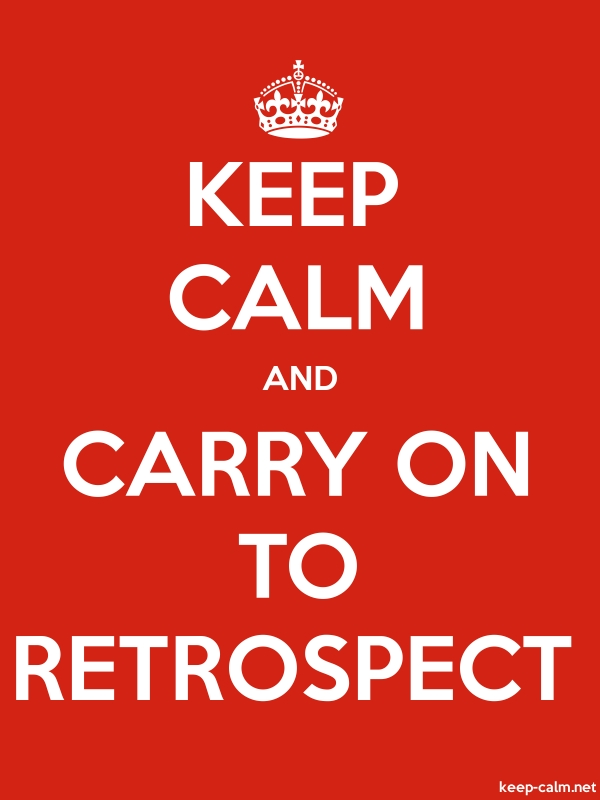 KEEP CALM AND CARRY ON TO RETROSPECT - white/red - Default (600x800)