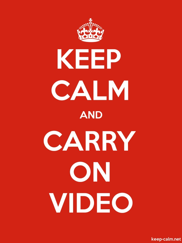 KEEP CALM AND CARRY ON VIDEO - white/red - Default (600x800)