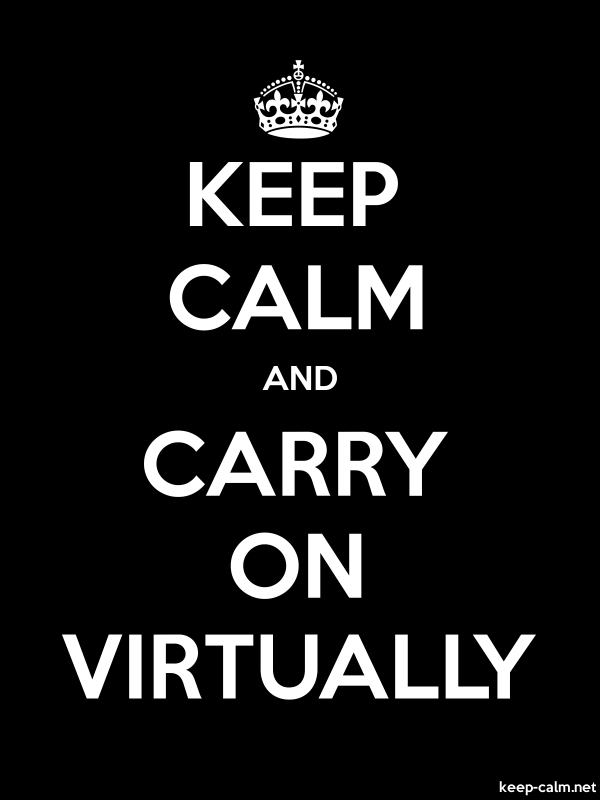 KEEP CALM AND CARRY ON VIRTUALLY - white/black - Default (600x800)