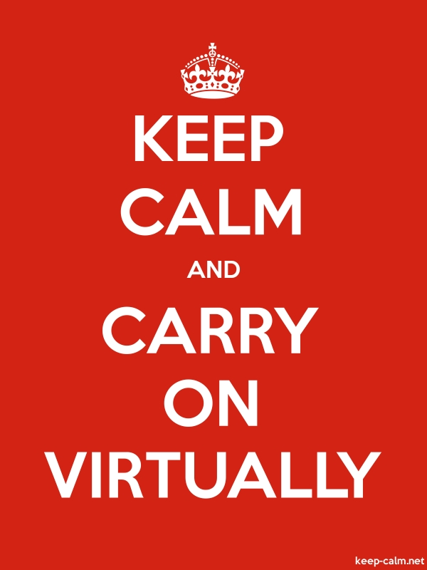 KEEP CALM AND CARRY ON VIRTUALLY - white/red - Default (600x800)