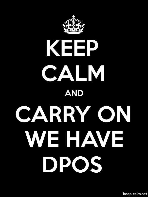 KEEP CALM AND CARRY ON WE HAVE DPOS - white/black - Default (600x800)