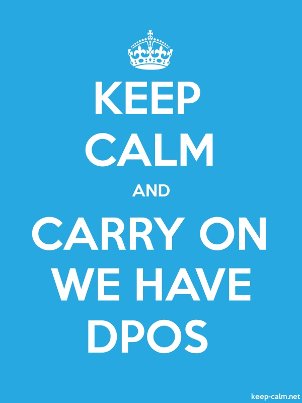 KEEP CALM AND CARRY ON WE HAVE DPOS - white/blue - Default (600x800)