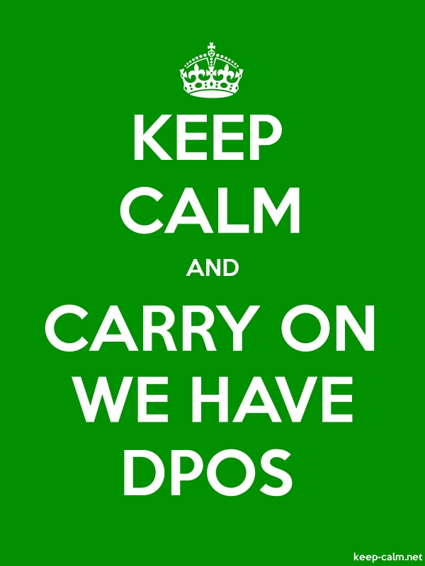 KEEP CALM AND CARRY ON WE HAVE DPOS - white/green - Default (600x800)