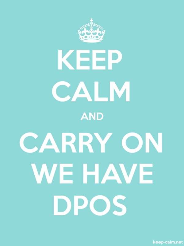 KEEP CALM AND CARRY ON WE HAVE DPOS - white/lightblue - Default (600x800)