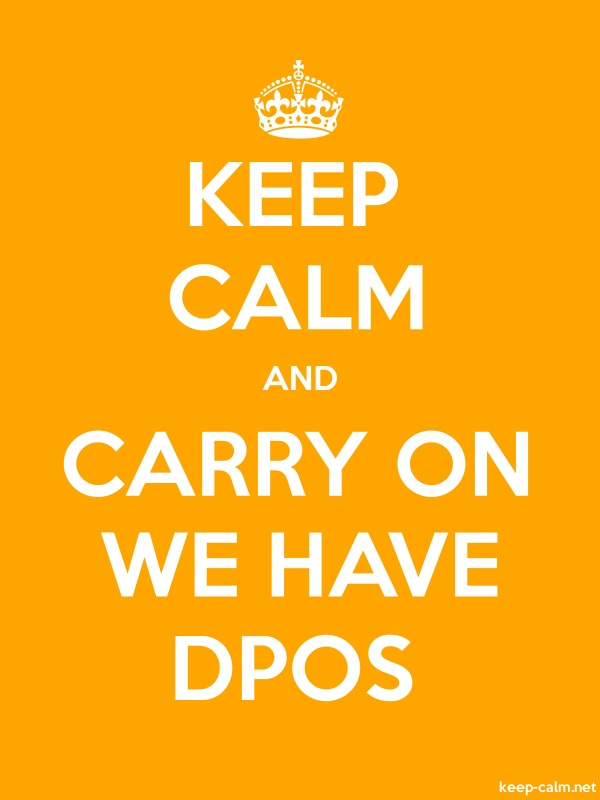 KEEP CALM AND CARRY ON WE HAVE DPOS - white/orange - Default (600x800)