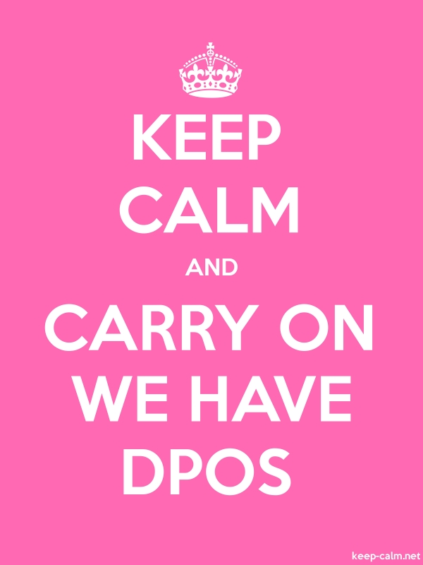 KEEP CALM AND CARRY ON WE HAVE DPOS - white/pink - Default (600x800)