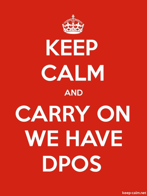 KEEP CALM AND CARRY ON WE HAVE DPOS - white/red - Default (600x800)