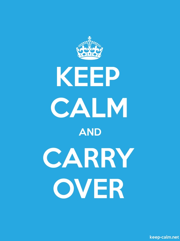 KEEP CALM AND CARRY OVER - white/blue - Default (600x800)