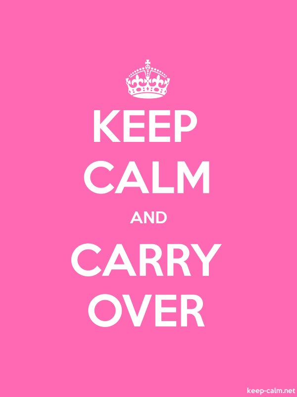 KEEP CALM AND CARRY OVER - white/pink - Default (600x800)