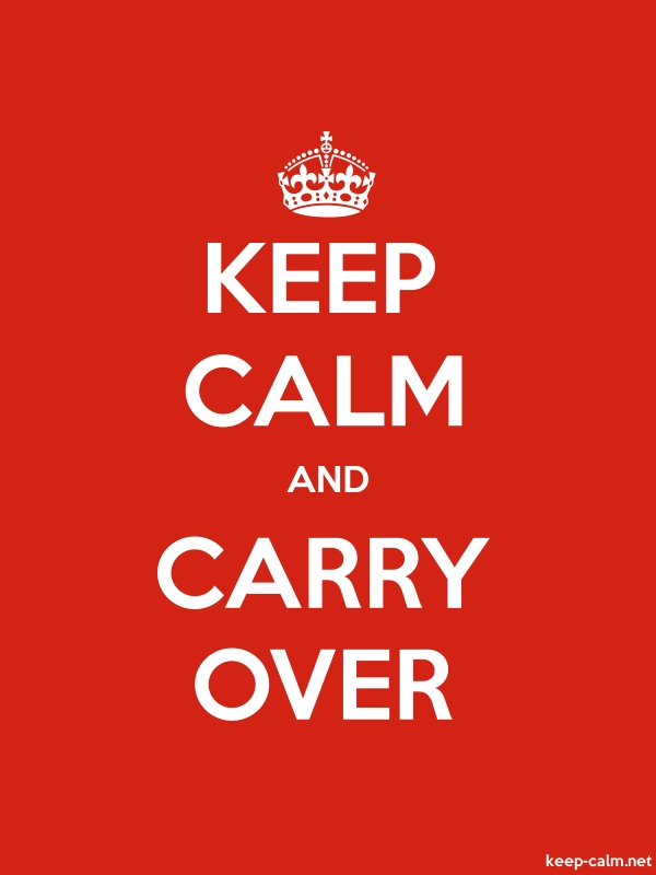 KEEP CALM AND CARRY OVER - white/red - Default (600x800)