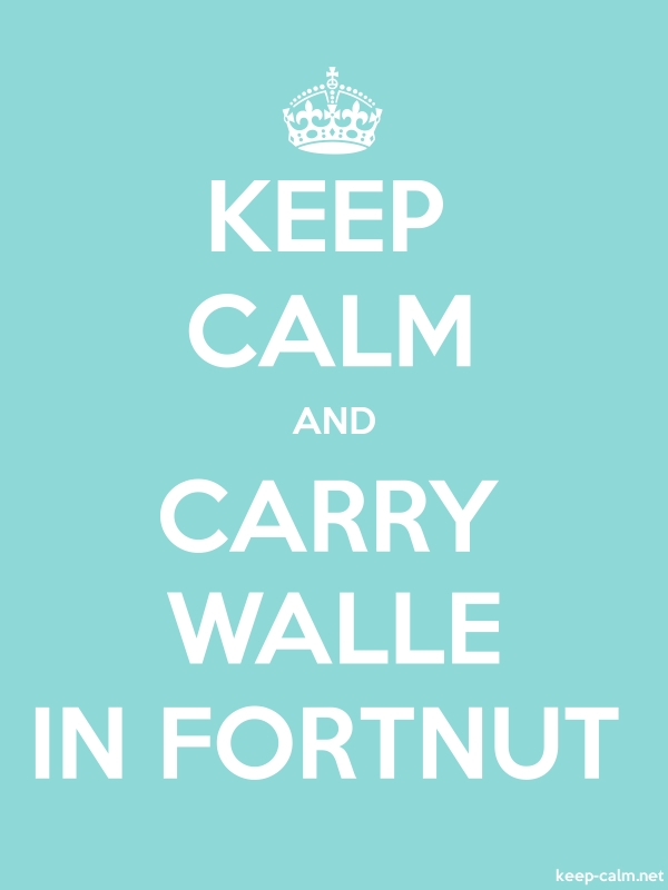 KEEP CALM AND CARRY WALLE IN FORTNUT - white/lightblue - Default (600x800)