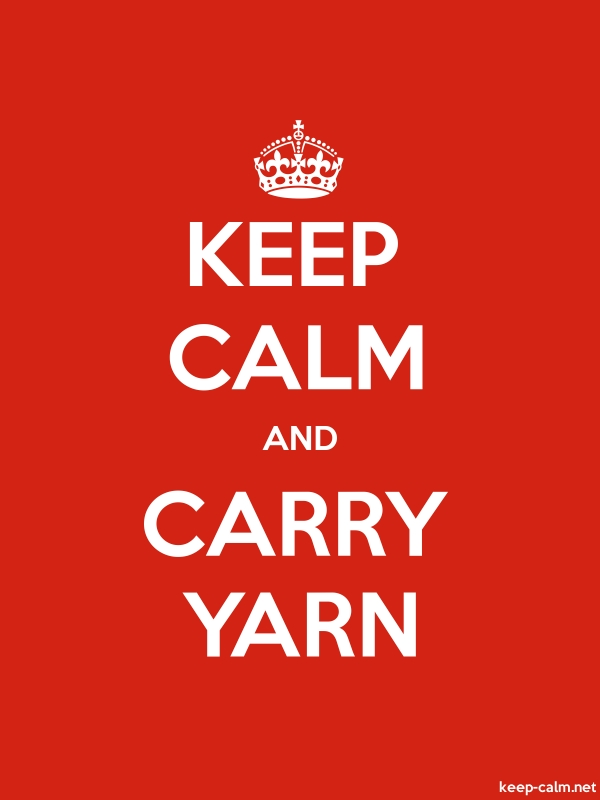 KEEP CALM AND CARRY YARN - white/red - Default (600x800)